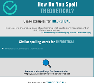 Correct spelling for theoretical