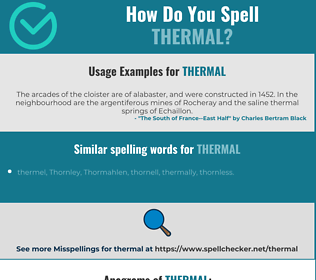 Correct spelling for thermal