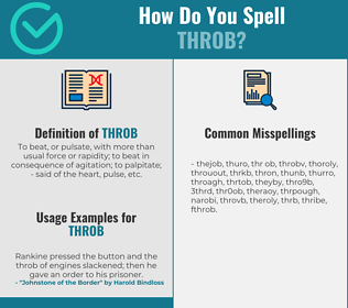 Correct spelling for throb