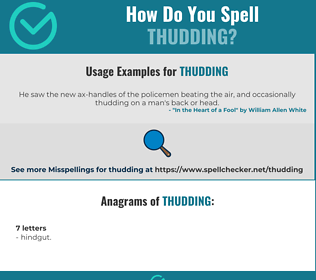 Correct spelling for thudding