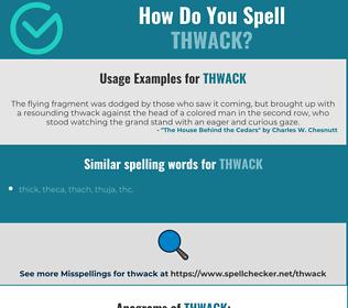 Correct spelling for thwack