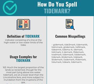 Correct spelling for tidemark