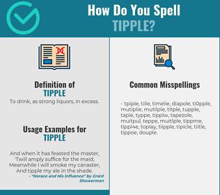 Correct spelling for tipple