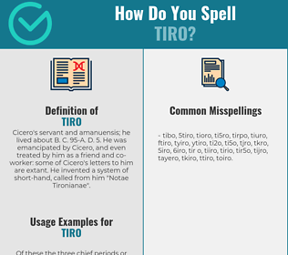 Correct spelling for tiro