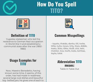 Correct spelling for tito