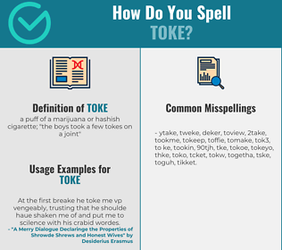 Correct spelling for toke