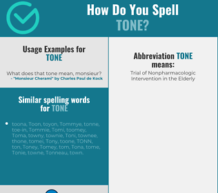 Correct spelling for tone