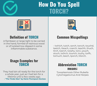 Correct spelling for torch