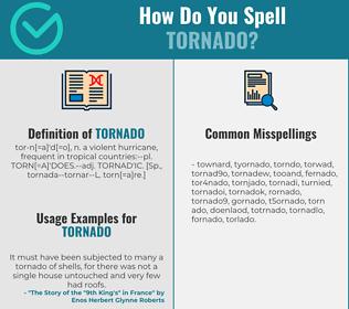 Correct spelling for tornado