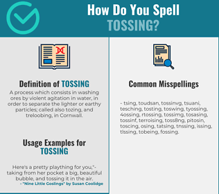 Correct spelling for tossing