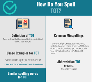Correct spelling for tot
