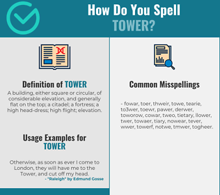 Correct spelling for tower