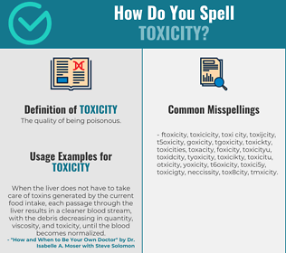 Correct spelling for toxicity