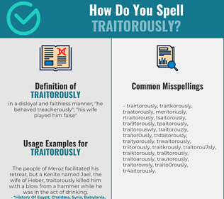 Correct spelling for traitorously