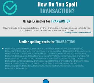 Correct spelling for transaction