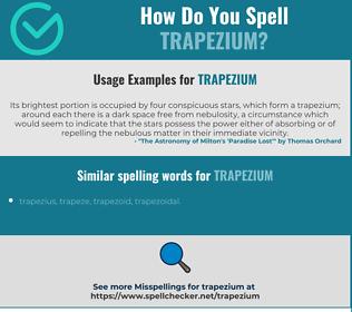 Correct spelling for trapezium