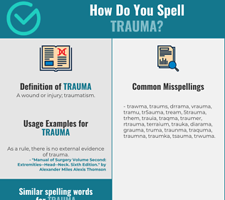 Correct spelling for trauma