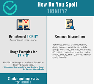 Correct spelling for trinity