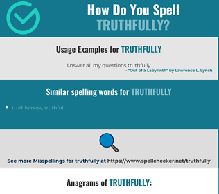 Correct spelling for truthfully