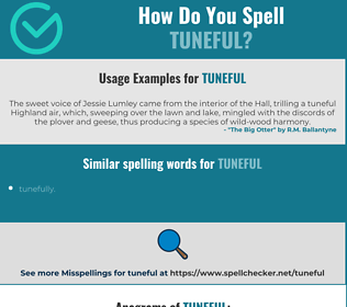 Correct spelling for tuneful