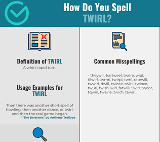 Correct spelling for twirl