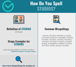 Correct spelling for Studios