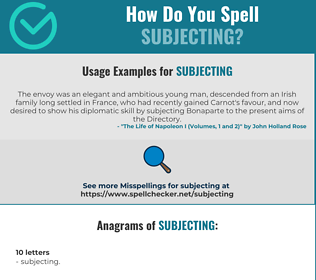 Correct spelling for Subjecting