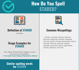 Correct spelling for stared