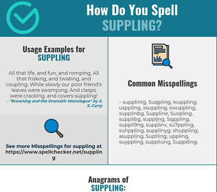 Correct spelling for Suppling