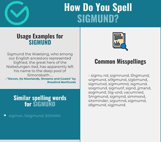 Correct spelling for Sigmund