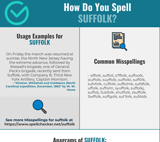Correct spelling for Suffolk