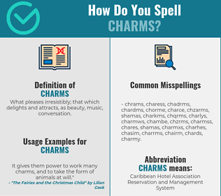 Correct spelling for charms