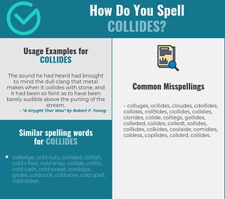 Correct spelling for collides