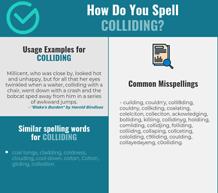 Correct spelling for colliding
