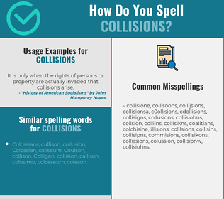 Correct spelling for collisions