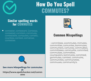 Correct spelling for commutes