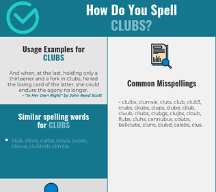 Correct spelling for clubs
