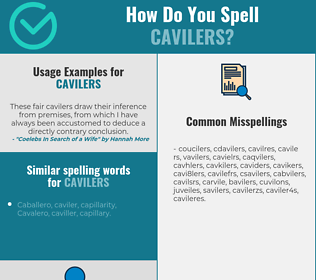 Correct spelling for cavilers