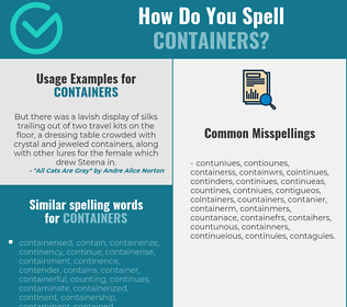 Correct spelling for containers