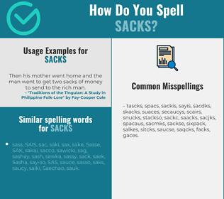 Correct spelling for sacks