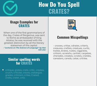 Correct spelling for crates