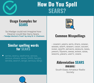 Correct spelling for sears