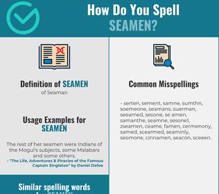 Correct spelling for seamen