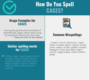 Correct spelling for cages