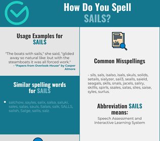 Correct spelling for sails