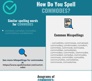 Correct spelling for commodes
