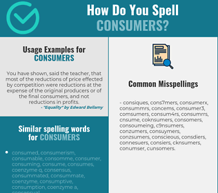 Correct spelling for consumers