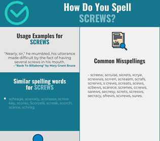Correct spelling for screws