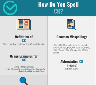 Correct spelling for CK