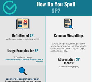 Correct spelling for SP